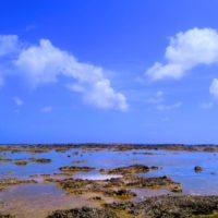 宝島の静かな海岸