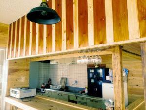 宝島のビーチハウスのキッチン