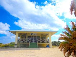 宝島のビーチハウスの外観
